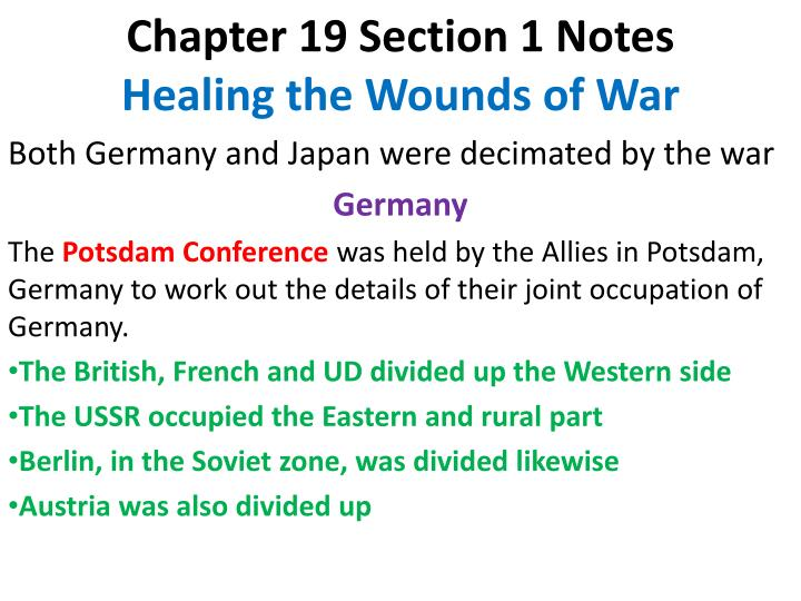 Chapter 19 Section 1 Notes