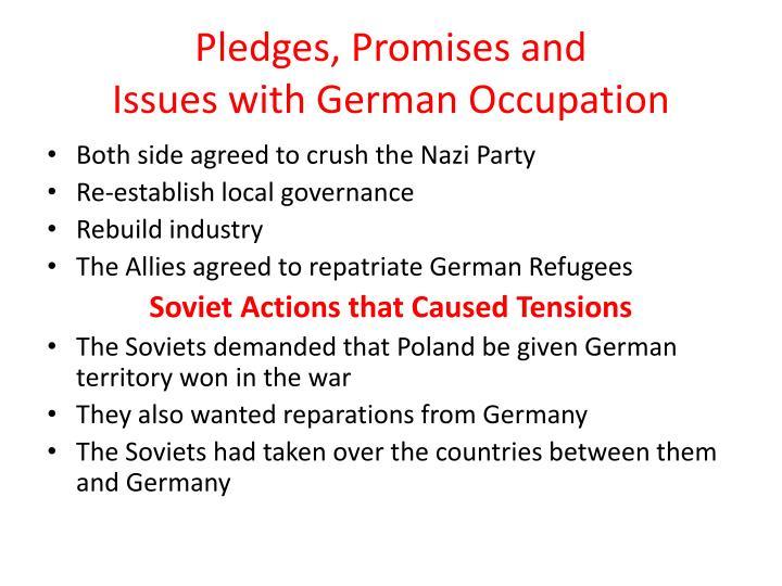 Pledges, Promises and