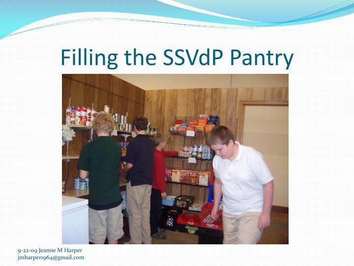 Filling the SSVdP Pantry