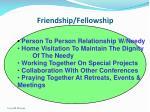 friendship fellowship