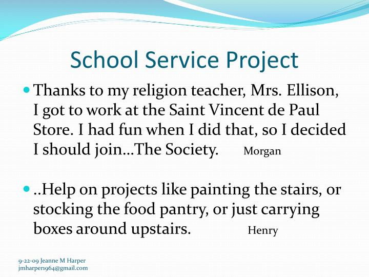 School Service Project