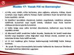 madde 17 yasak fiil ve davran lar