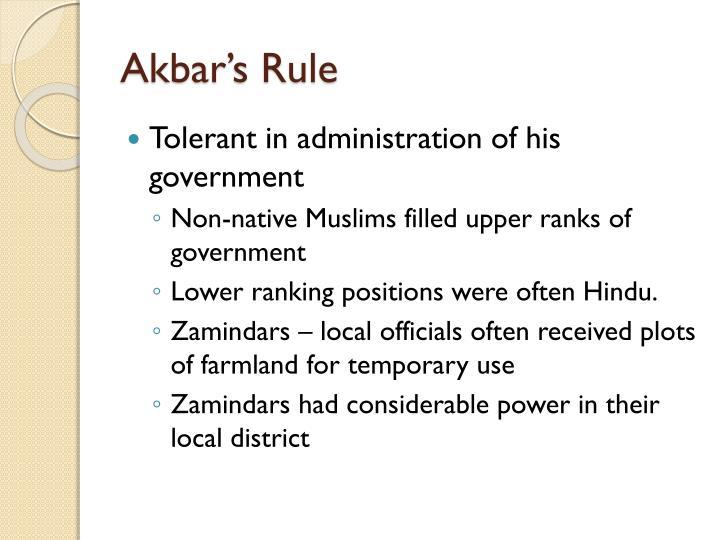 Akbar's Rule