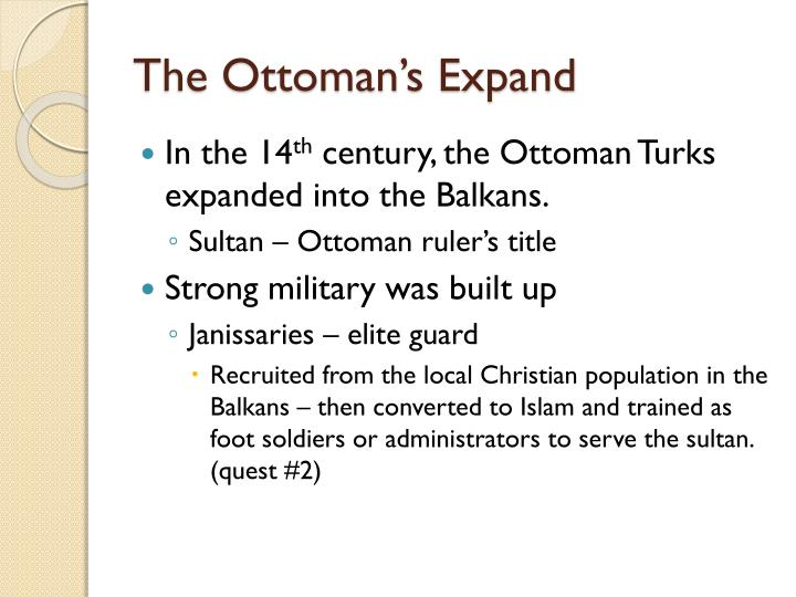The Ottoman's Expand