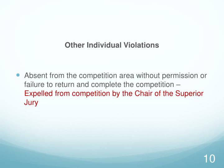 Other Individual Violations
