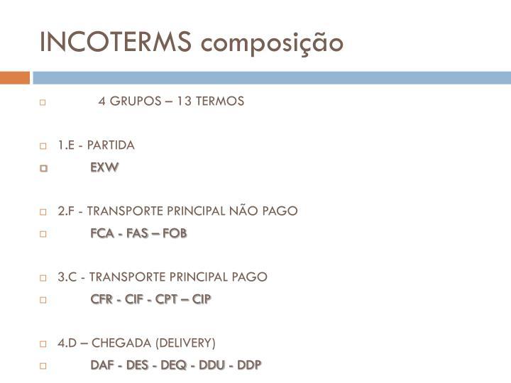 INCOTERMS composição
