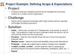 project example defining scope expectations
