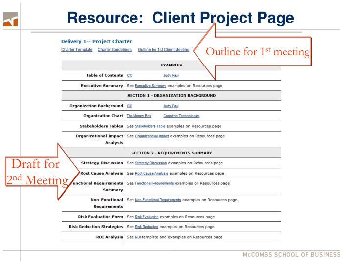 Resource:  Client Project Page