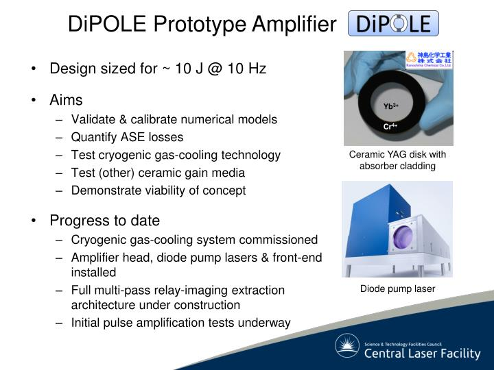 DiPOLE Prototype Amplifier