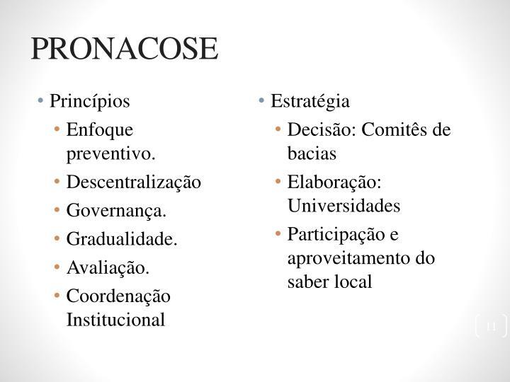 PRONACOSE