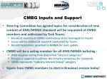 cmbg inputs and support