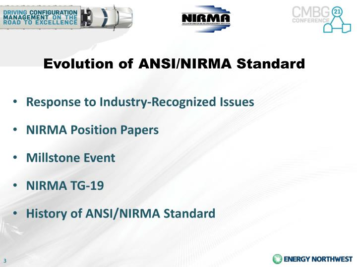 Evolution of ANSI/NIRMA Standard