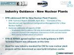 industry guidance new nuclear plants