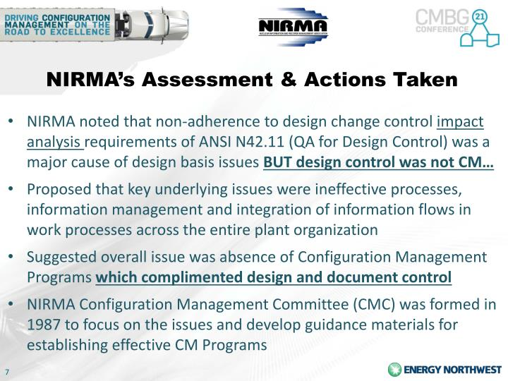NIRMA's Assessment &