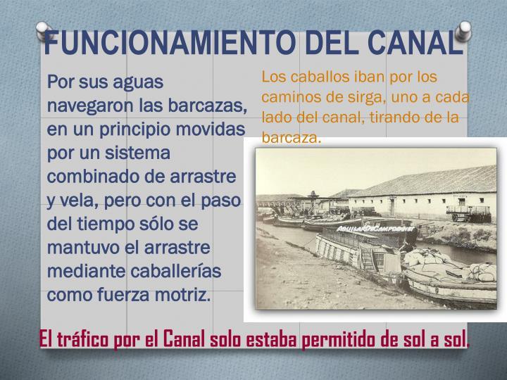 FUNCIONAMIENTO DEL CANAL