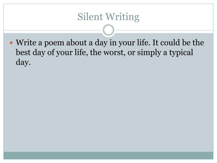Silent writing1