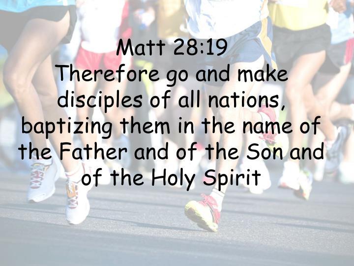 Matt 28:19