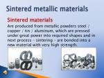 sintered metallic materials1
