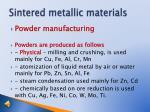 sintered metallic materials5