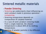 sintered metallic materials9