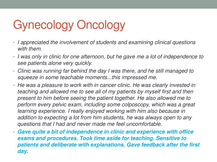 Gynecology Oncology