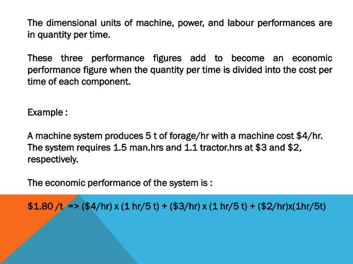 The dimensional units of machine, power, and