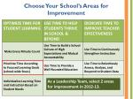 choose your school s areas for improvement