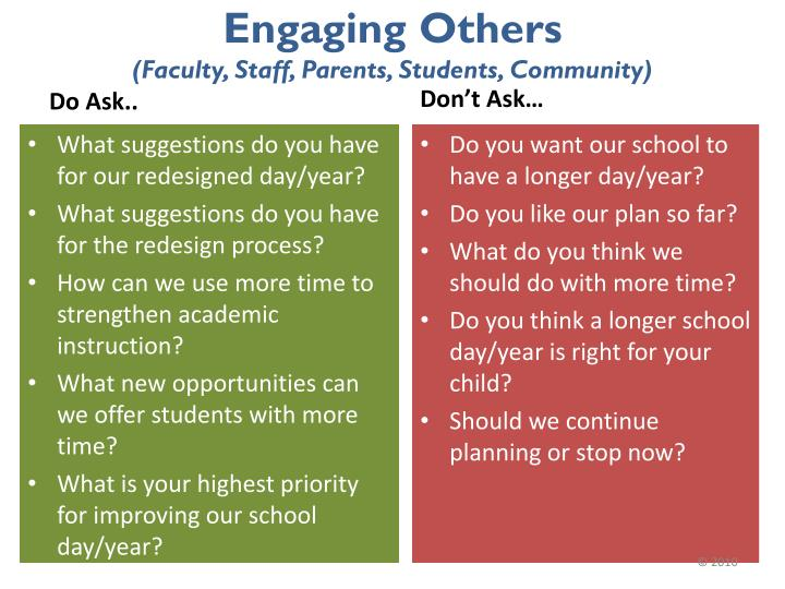 Engaging Others