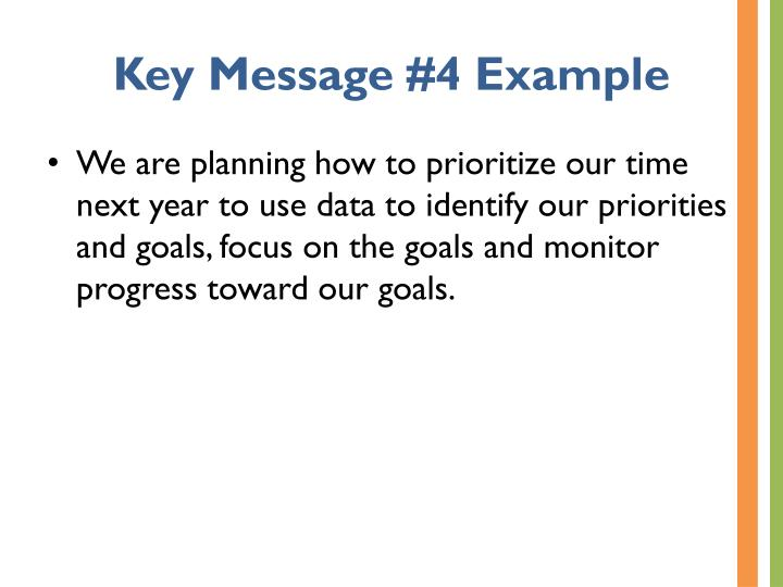 Key Message #4 Example