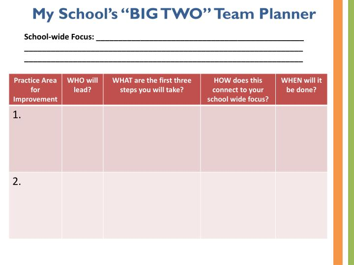 "My School's ""BIG TWO"" Team Planner"