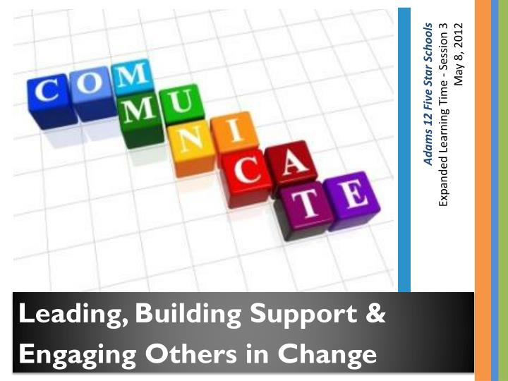 Leading, Building Support &