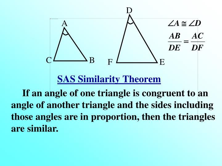 SAS Similarity Theorem
