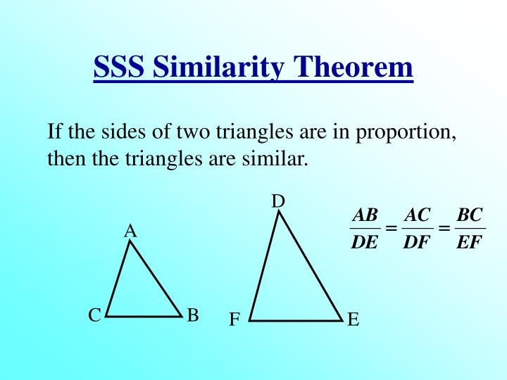 SSS Similarity Theorem