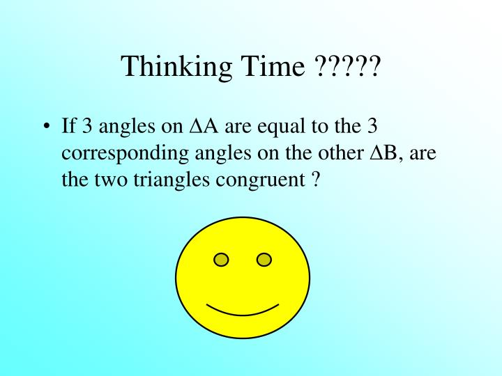 Thinking Time ?????