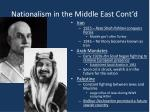 nationalism in the middle east cont d