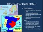 other authoritarian states
