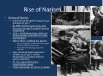 rise of nazism cont d