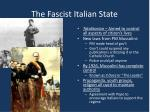 the fascist italian state