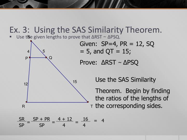 Ex. 3:  Using the SAS Similarity