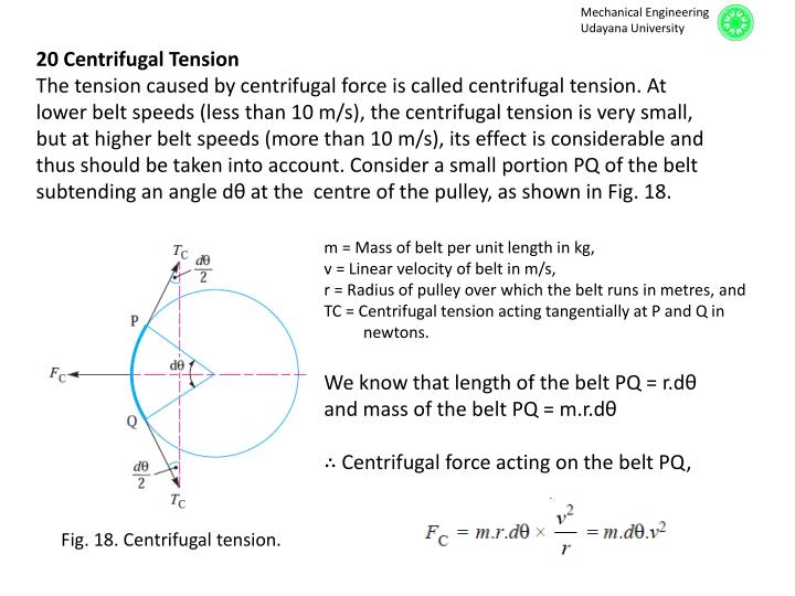 20 Centrifugal Tension