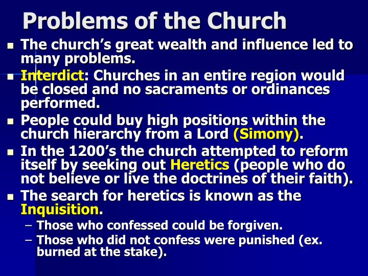Problems of the Church
