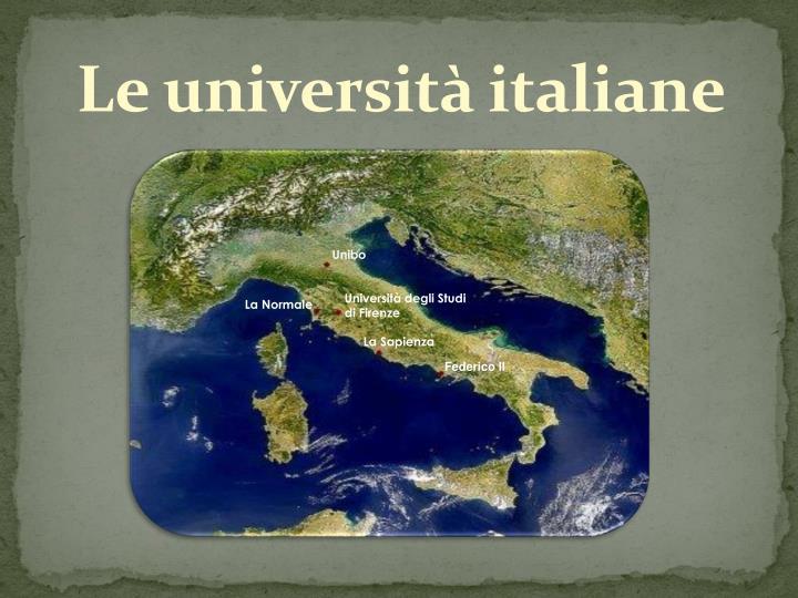 Le università italiane