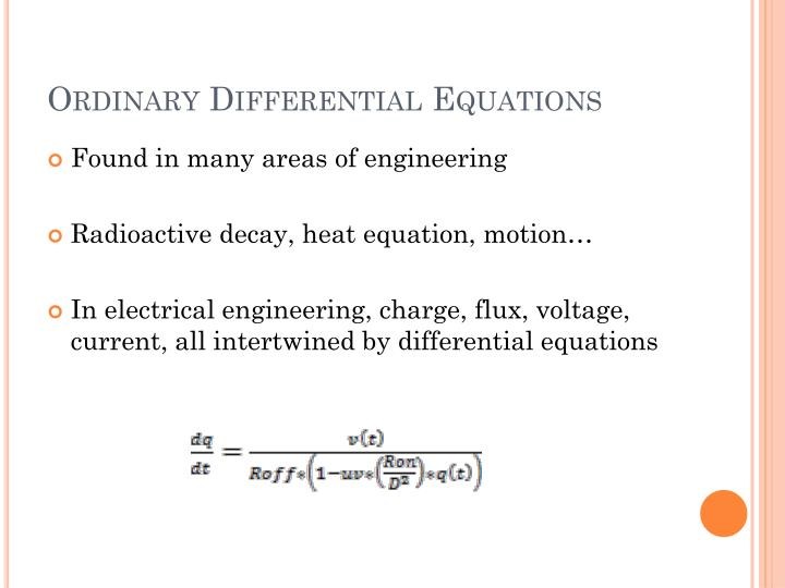 Ordinary differential equations1