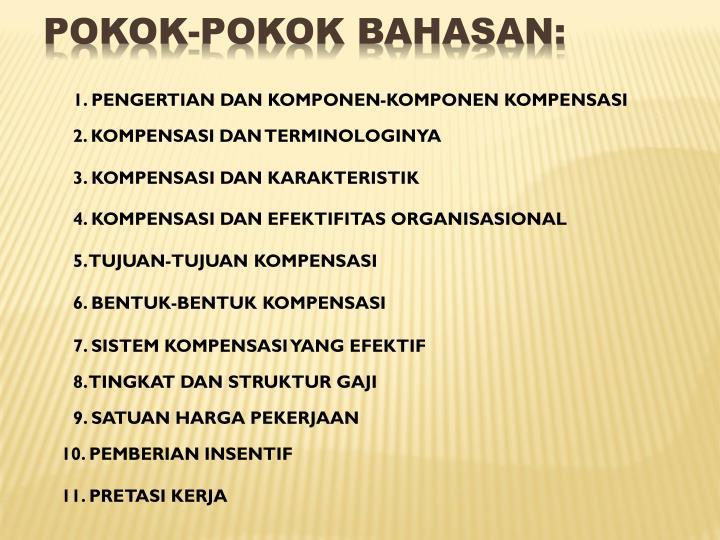 POKOK-POKOK BAHASAN: