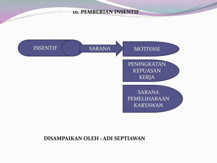 10. PEMBERIAN INSENTIF