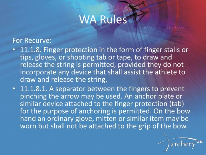 WA Rules
