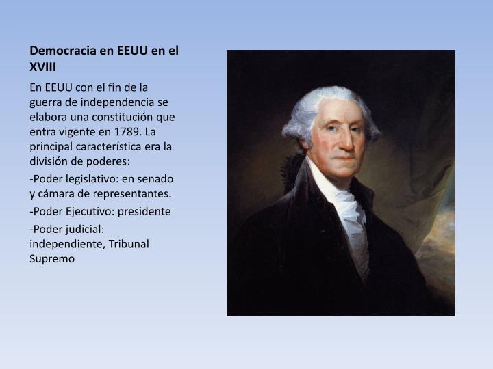 Democracia en EEUU en el XVIII