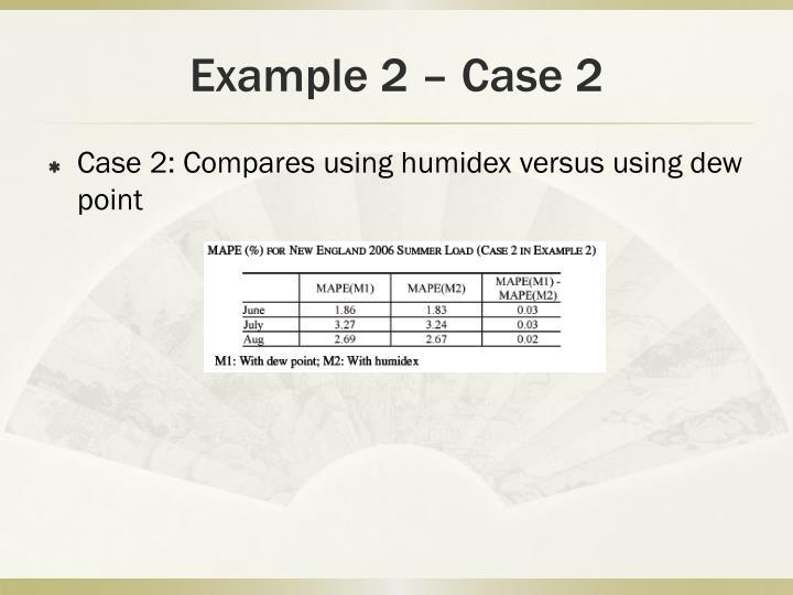 Example 2 – Case 2