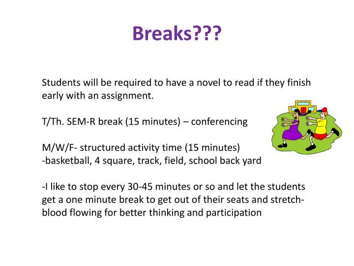 Breaks???