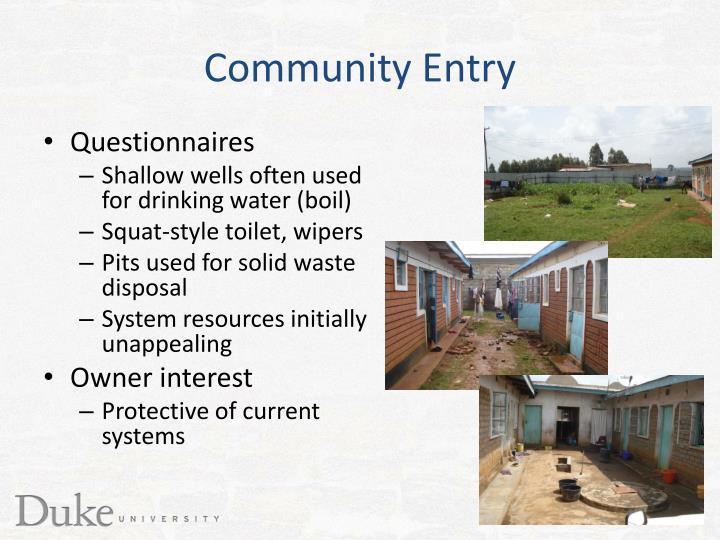 Community Entry